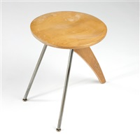 rudder stool, model in-22 by isamu noguchi