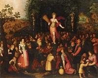 homage to venus - allegory of spring (2 works) by louis de caullery