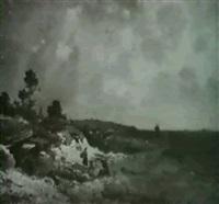 landschaft bei aufziehendem wetter by friedrich wilhelm albert dressler