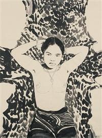 weibliche akte, figürliche darstellungen aus mexiko, brasilien, peru, malaysia und borneo, portugiesische fischer (17 works, some smaller) by michael strauss