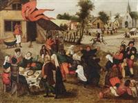 a village kermesse by abel grimmer
