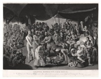 colonel mordaunt's cock match (engraved by richard earlom) by johann joseph zoffany