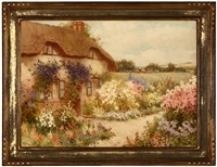 the cottage with the blue creeper, an old english house near aylesbury, bucks by william affleck