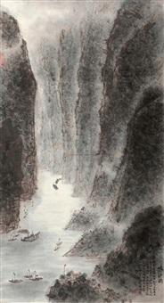 峡江图 (landscape) by zhang wenjun