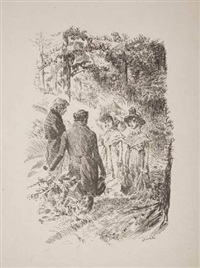 scènes de bataille, vie paysanne, scènes de genre (29 works, various sizes) by louis dunki