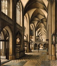 a church interior by abel grimmer