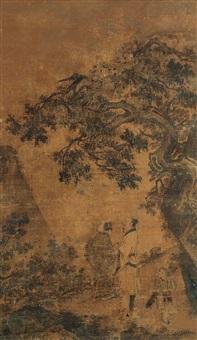 溪山听瀑 (landscape) by ma lin