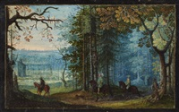 riders in a forest by flemish school (16)
