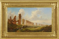 italian ruins by thomas cole