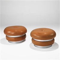 poufs (pair) by maurice calka