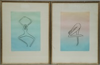 figure (2 works) by man ray