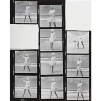 vogue shooting (set of 10) by helmut newton