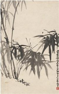 雨竹图 by xiao junxian