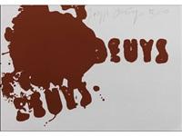 aus: zeichen aus dem braunraum, blatt 1 by joseph beuys