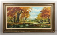 fall landscape by harland young