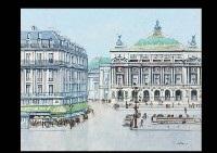 paris, la place de l'opéra by h. rolf rafflewski