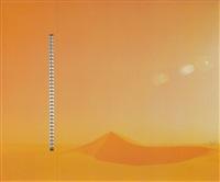 die lichtstelen (station 1 der sahara-edition) by heinz mack