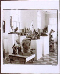 pieces (view of alferez's studio with the artist at work on the lute player) by joseph mcdonnell