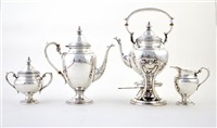 tea and coffee service (set of 4) by fisher silversmiths (co.)