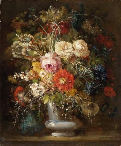 üppiger blumenstrauss in vase by simon saint jean