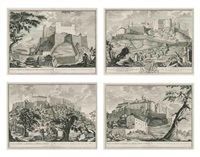 prospects of salzburg (set of 4) by johann august corvinus