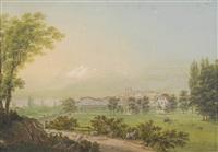 vue de la ville genève by johann ludwig (louis) bleuler