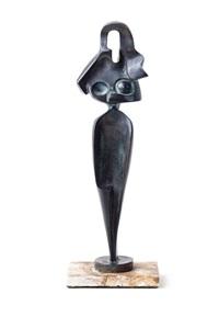 ägyptisches motiv. stilisierte stehende frau by alexander archipenko