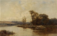 carrying hay from the islands of the thames by alfred de breanski sr