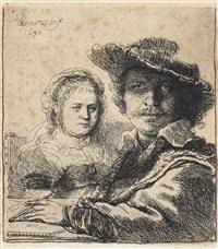 self-portrait with saskia by rembrandt van rijn