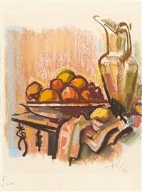 stillleben mit krug und früchten by richard ziegler