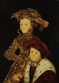 porträt einer fürstin und ihres sohnes by franz wolfgang rohrich