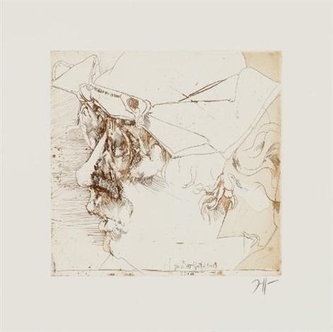 5 selbstbildnisse griffelkunst 5 works by horst janssen
