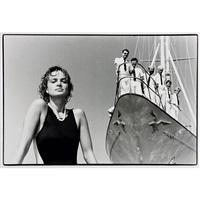 gloria thurn und taxis aboard her yacht / an bord ihrer yacht l'aiglon by helmut newton