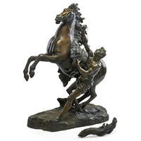 the marly horses (2 works) by guillaume coustou the elder