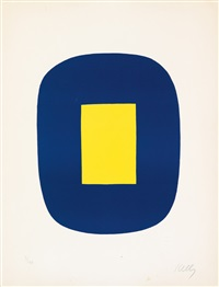 blue with yellow by ellsworth kelly