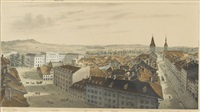 panorama von bern (in 2 parts) by rudolf huber