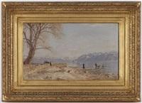 au bord du lac by francois-louis-david bocion