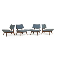 lounge chairs (set of 4) by jens risom