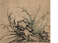 orchid and rock (album w/4 works) by ma shouzhen