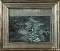 the ship's wake by frits thaulow
