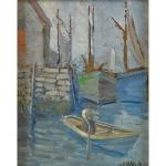 man in rowboat by charles salis kaelin