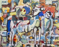 horse mosaic by boris chetkov