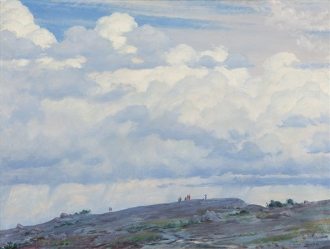 cloud view from the cliff by charles courtney curran
