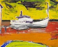 landskap med båt by gunnar loberg