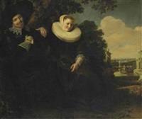 portrait of isaac massa and his wife beatrix van der laen by frans hals the elder