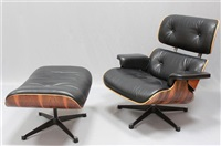Sessel Nr. 670 Und Ottoman Nr. 671, 1956. Charles And Ray Eames