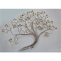 tree wall hanging sculpture by curtis jere