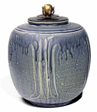 lidded vase by carl halier and knud andersen