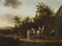 resting horsemen by gerrit adriaensz berckheyde