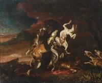 bear hunting by abraham danielsz hondius